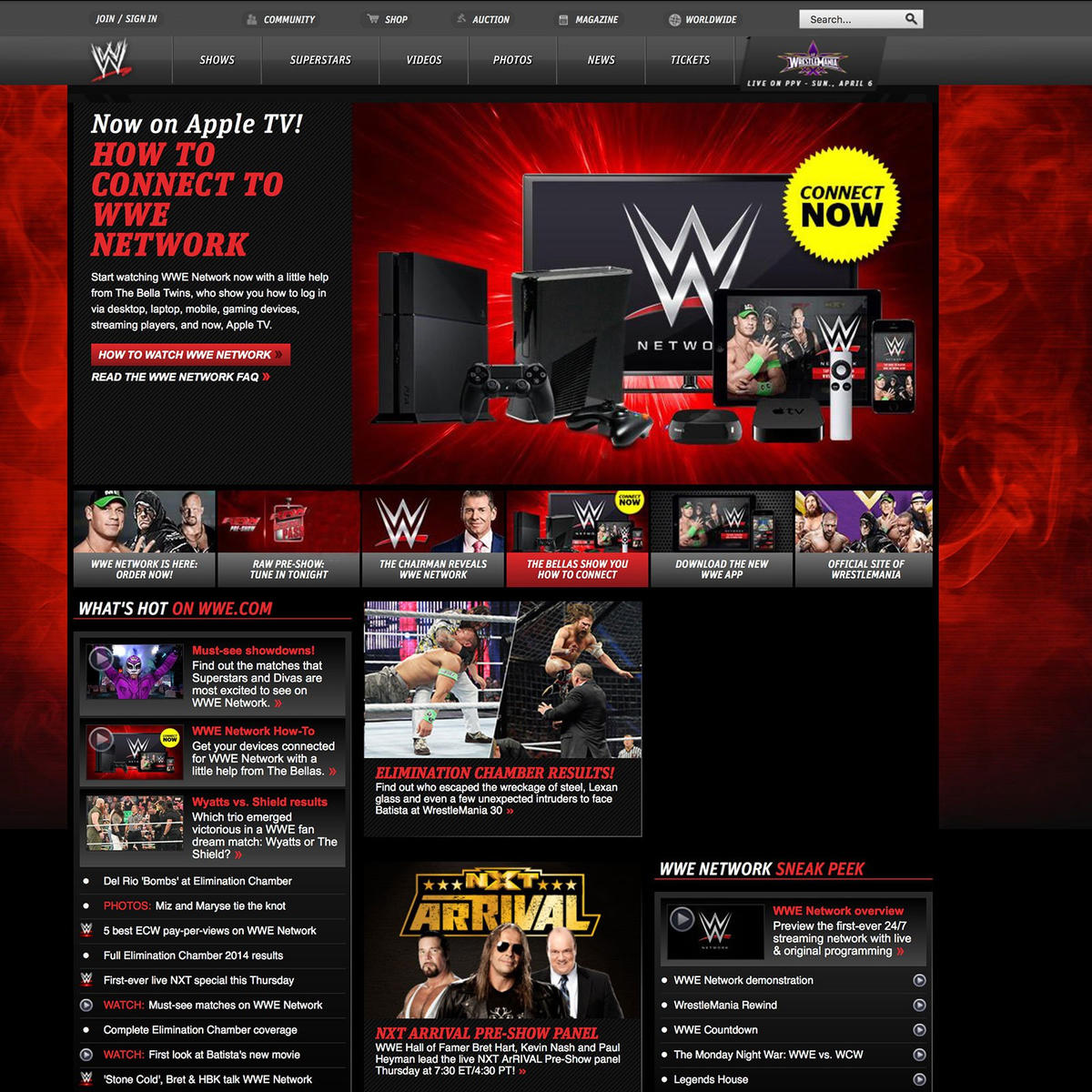 Resultado de imagen para wwe.com web