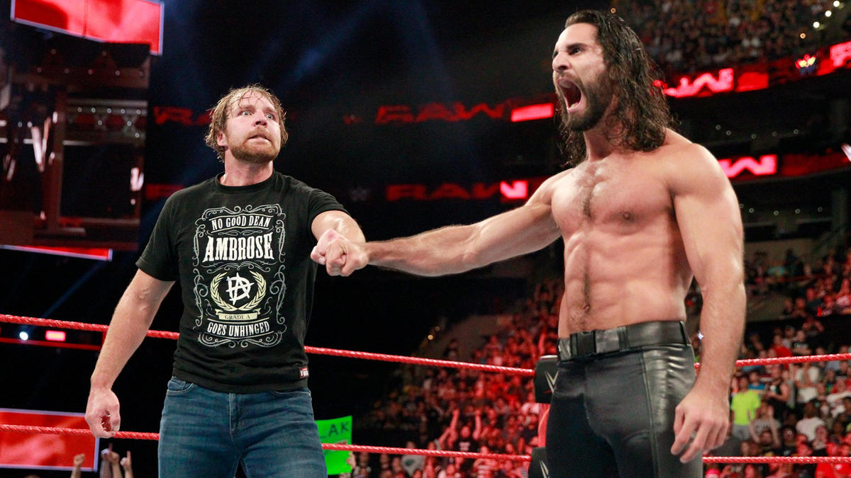 ... and he and Rollins bring back the classic Shield fist bump!