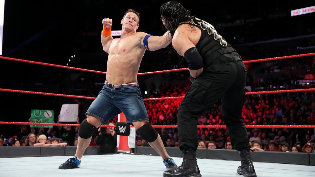 Resultado de imagen para John Cena Roman Reigns