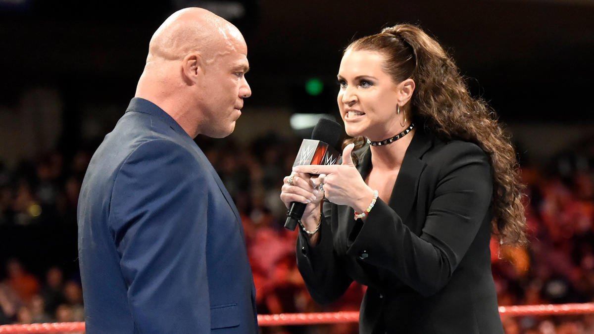 Stephanie makes it clear that Angle can expect her to find a new General Manager if she doesn't get what she wants at Survivor Series.