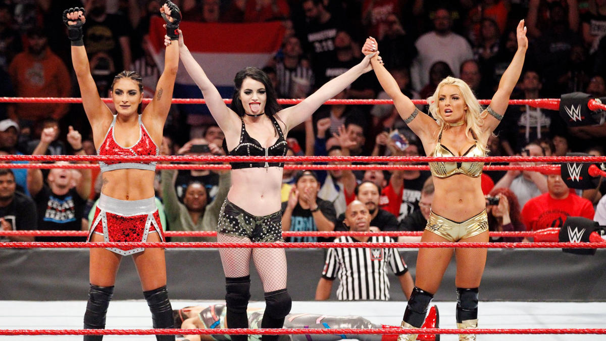 Paige, Deville and Rose stand tall after decimating their fellow Raw Superstars!