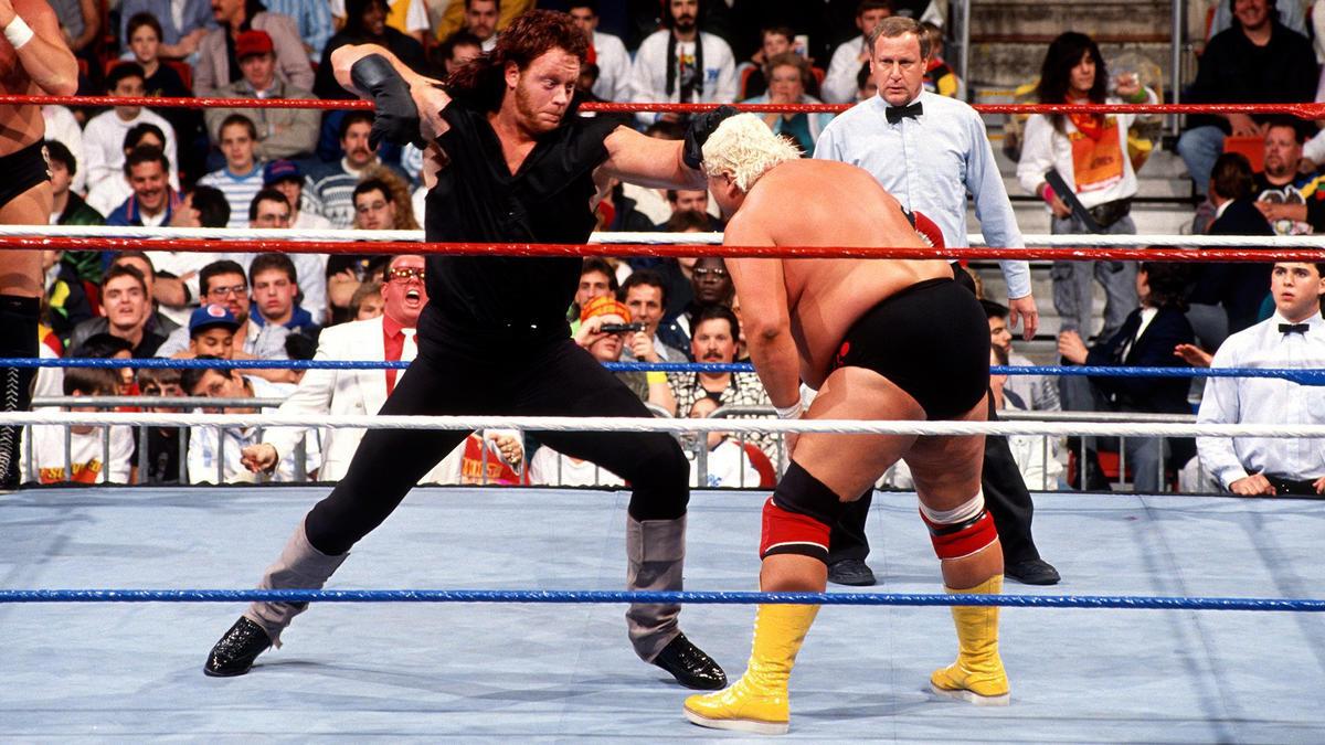 "Undertaker, Million Dollar Man, Greg Valentine & The Honky Tonk Man vs. Bret ""Hit Man"" Hart, Dusty Rhodes, Jim Neidhart & Koko B. Ware – Lucha Estilo Survivor Series: Survivor Series 1990"