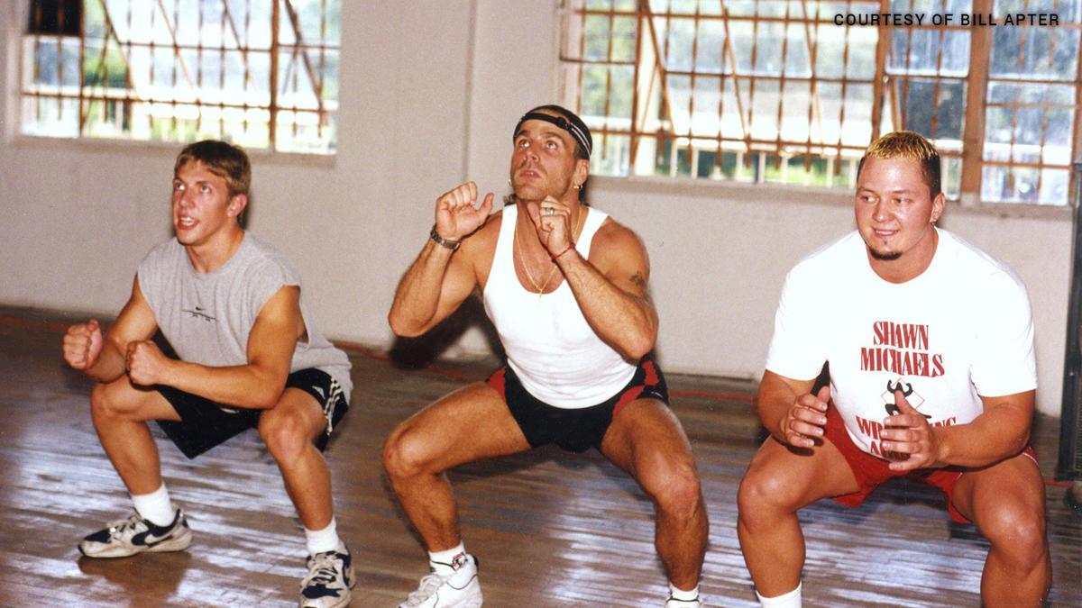 Fotos raras de Daniel Bryan entrenando con Shawn Michaels   WWE