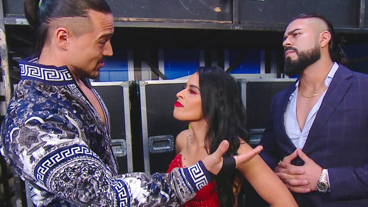 Zelina Vega walks out on Andrade & Angel Garza: Raw, Sept. 14, 2020   WWE