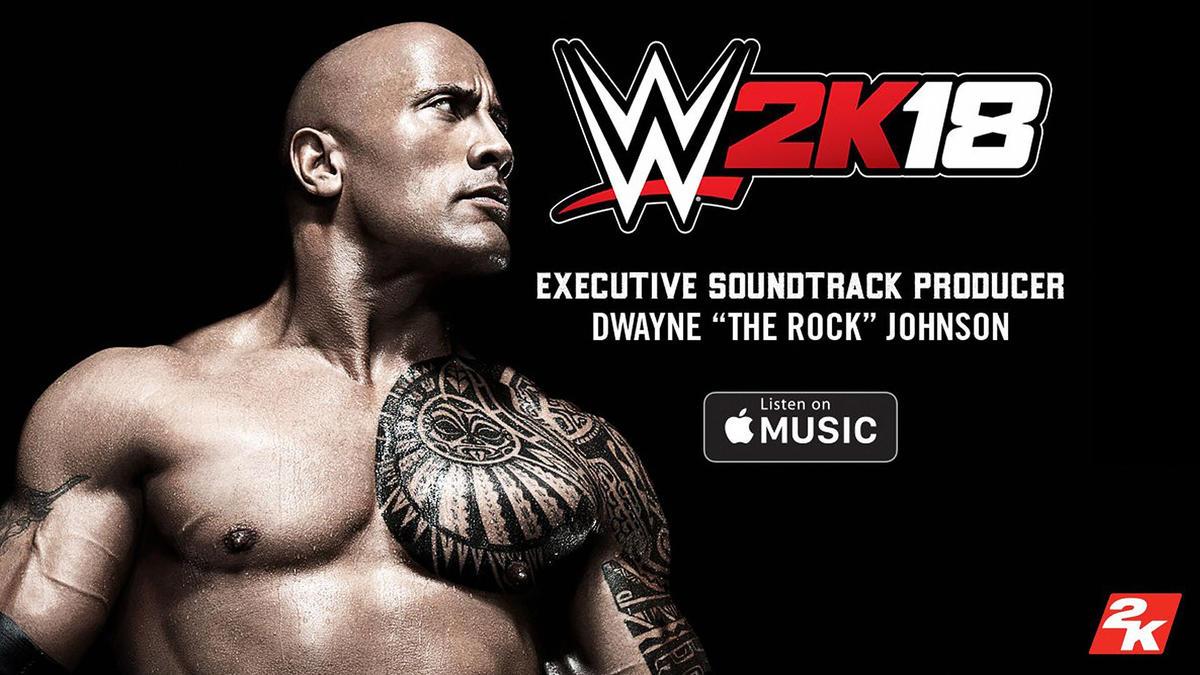 la roca producir la banda sonora de wwe 2k18 con apple
